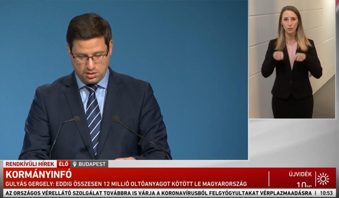 191 ezer embert tesztelnek jövő héten, 12 millió oltóanyagot már lekötött Magyarország